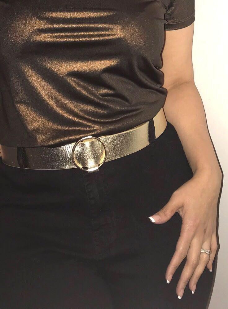 Metallic Gold Belt