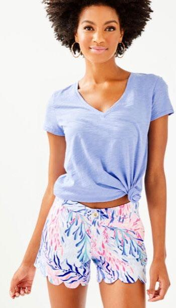 Lilly Pulitzer blue buttercup shorts
