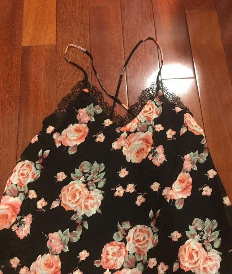 Cotton Candy LA Cotton Candy delicate lace X cross back open dress