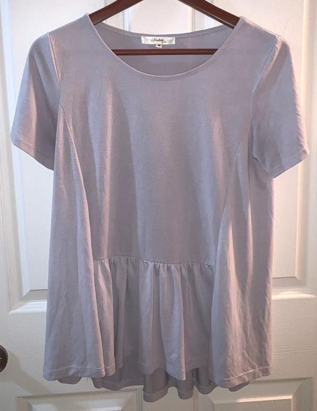 Lavender Shirt Sleeve Top App
