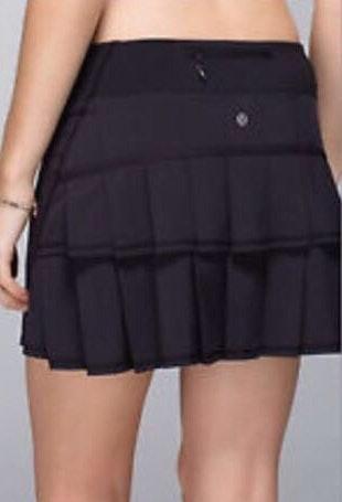Lululemon Lulu Lemon Black Tennis Skirt