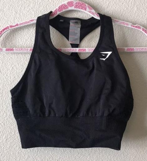 Gymshark Black  Sports Bra