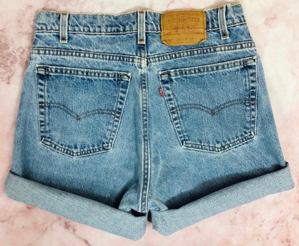 Levi's Vintage Levis 550 High Rise Cuffed Denim Mom Shorts