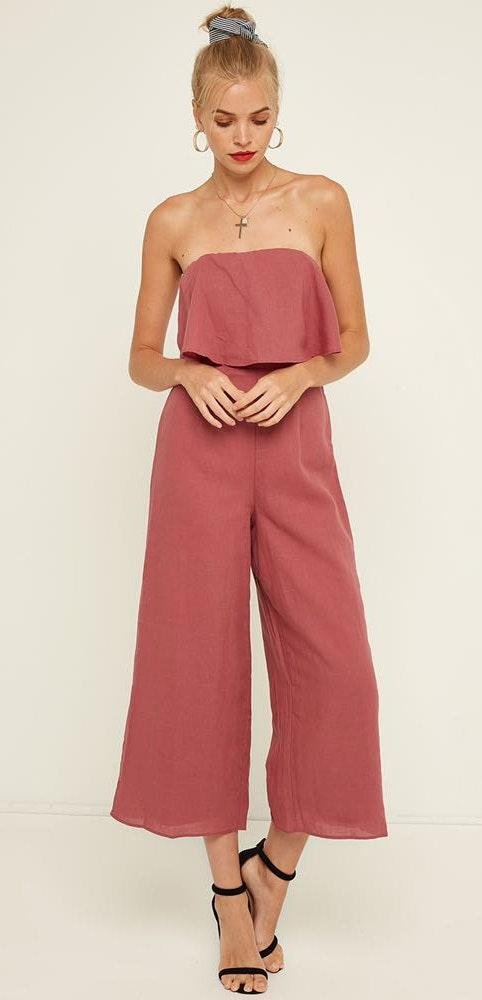 Perfect Stranger Flounce Jumpsuit