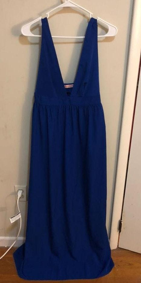Oh My Love Royal blue long dress