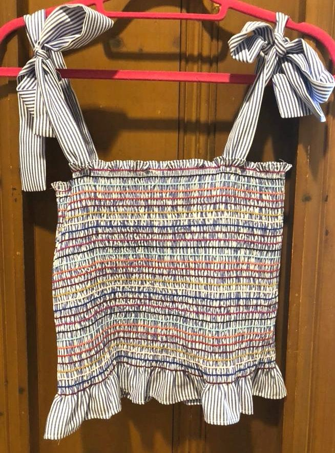 Ruffle Skirt And Crop Top Set
