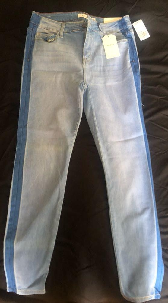 Cello Light Wash Cropped Jeans With Band