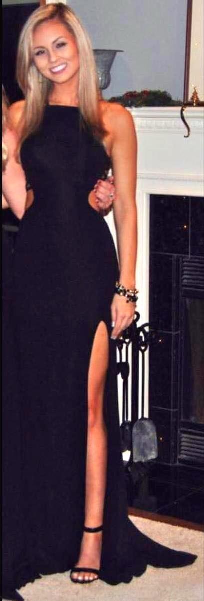 La femme black formal dress