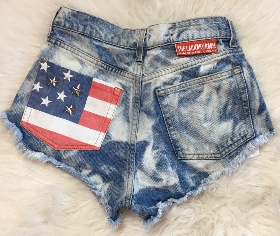 The Laundry Room Americana Cutoff Shorts