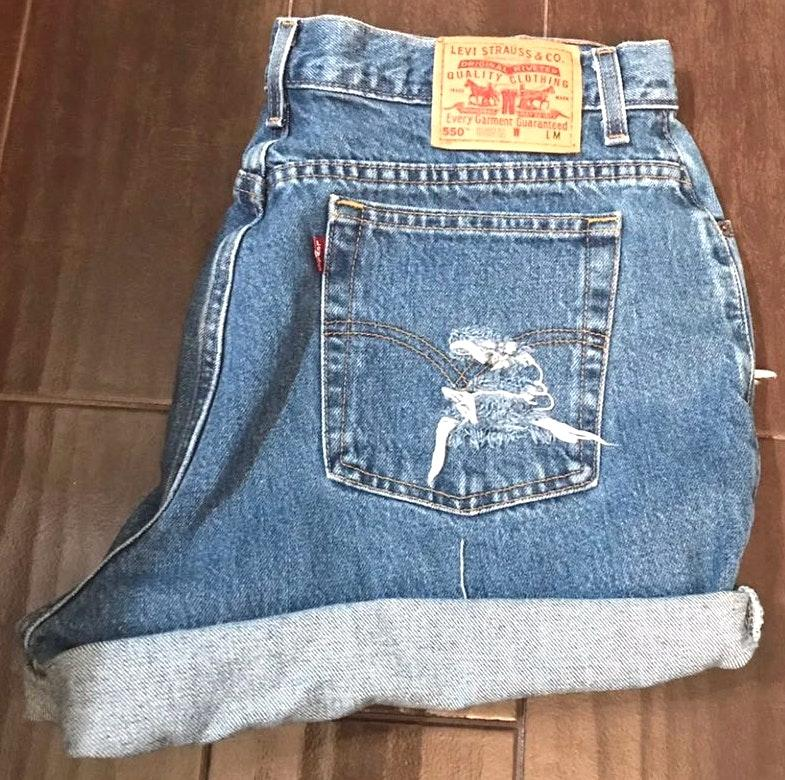Levi's 550 Denim Distress  Shorts