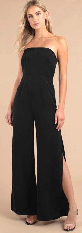 Tobi Black Strapless Jumpsuit