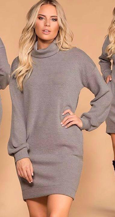 Shop Priceless NWOT Gray Sweater Dress