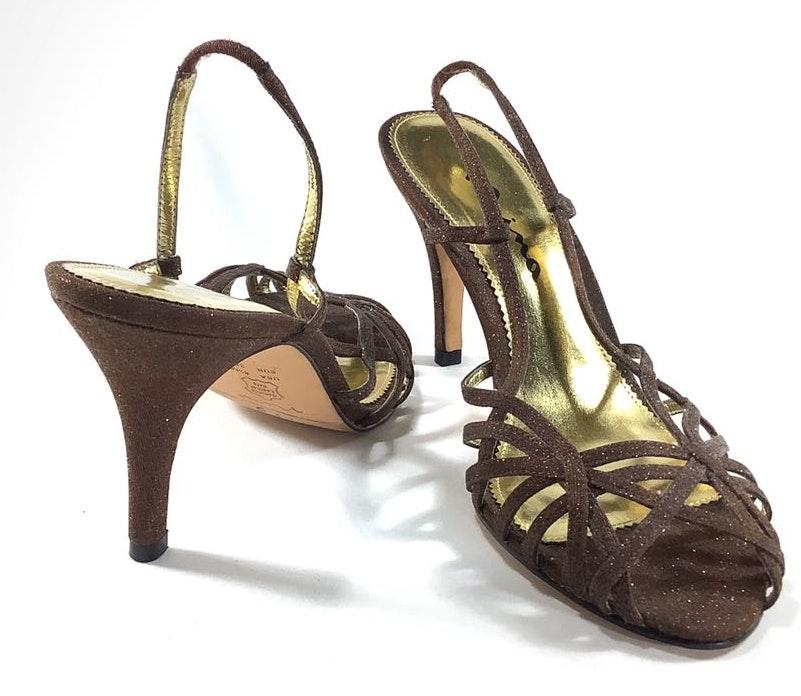 Nina 8.5 Glitter Strappy Slingback sandals Heels