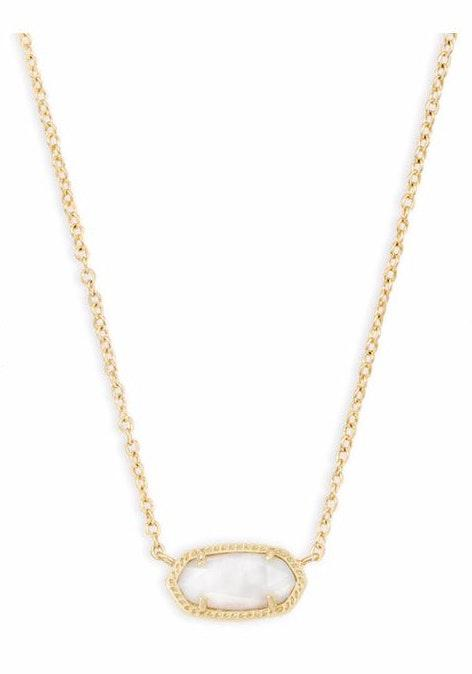 Kendra Scott Pearl White With Gold Short Necklace