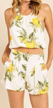 Moon River 2 Piece Lemon Outfit