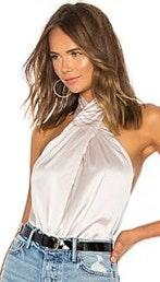 by the way. Amerie Pleated Halter Top In Bone