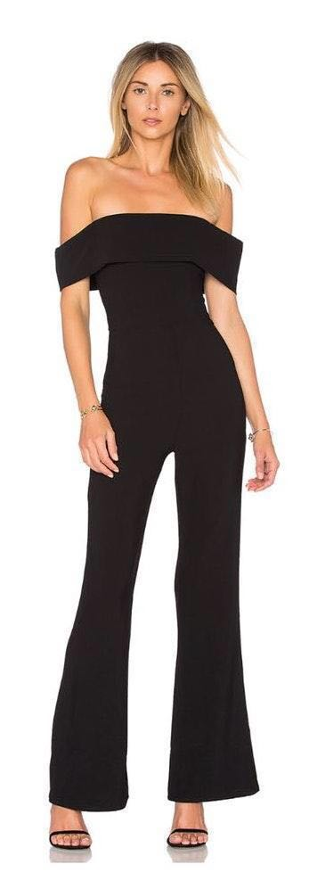 by the way. REVOLVE Off The Shoulder Jumpsuit