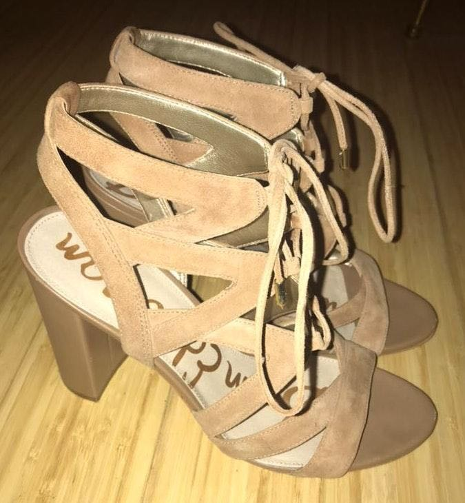 Sam Edelman Nude Strappy Sandals