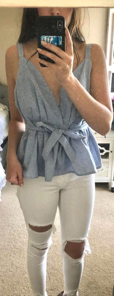 Lulus Gingham Top