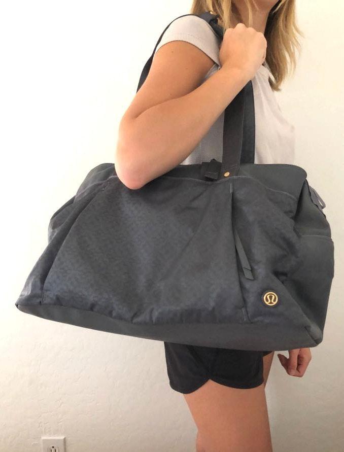 Lululemon grey  yoga/dance/gym bag
