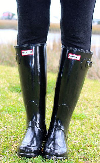 7e9a86cd730c We re the buy sell app for cute clothes. Say to being bored of your  clothes. Home Hunter Black Glossy Tall Rain Boots