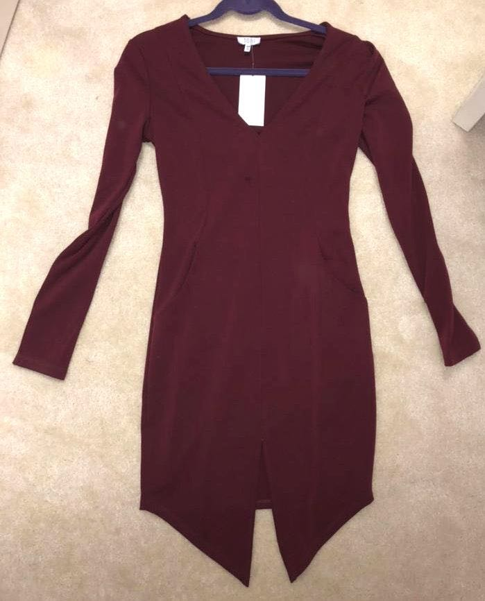 Tobi Burgundy Cocktail Dress