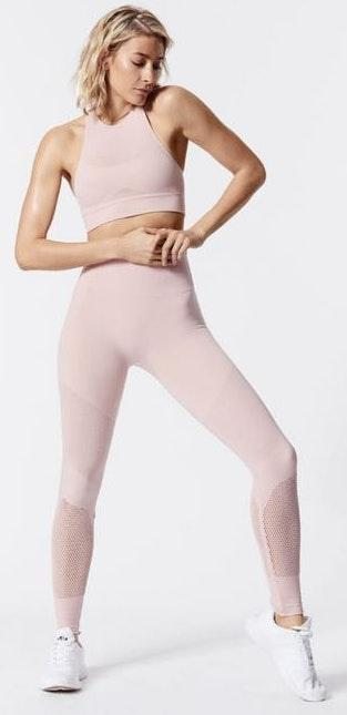 Free People Movement Pink Sculpt Crop Top
