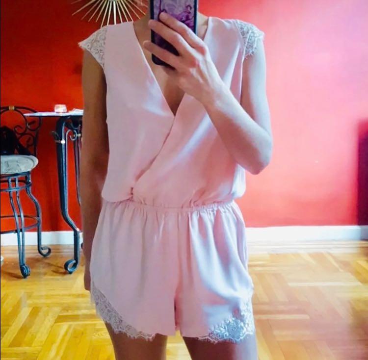 L'ATISTE Pink Lace Romper