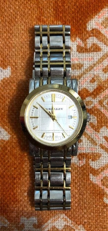 Burberry Silver And Gold Watch