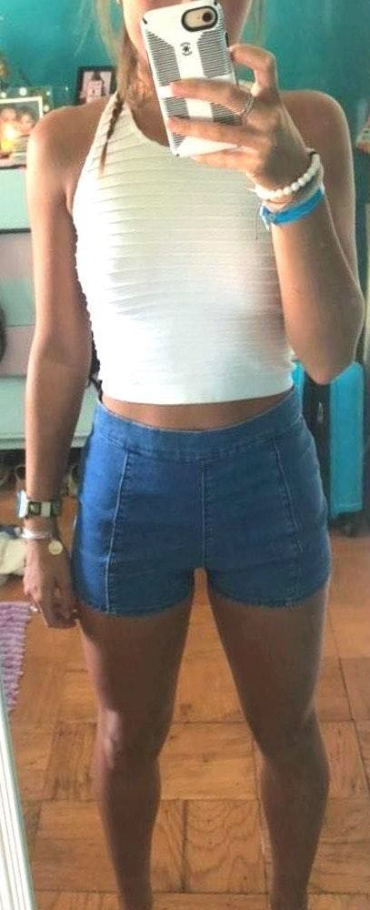 Hollister Jean Shorts With Side Zipper