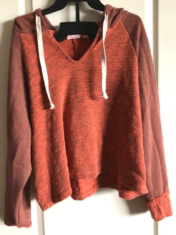 Two Tone Orange Sweatshirt