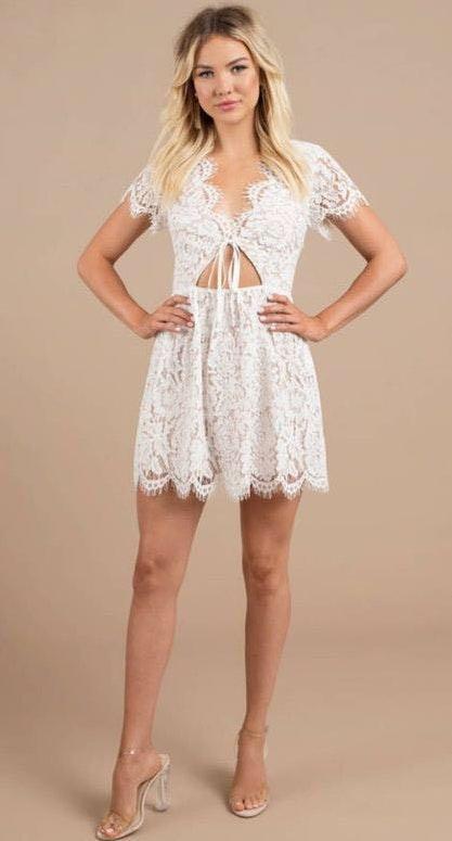 24b1ee38e6d Tobi White Lace Cocktail Dress