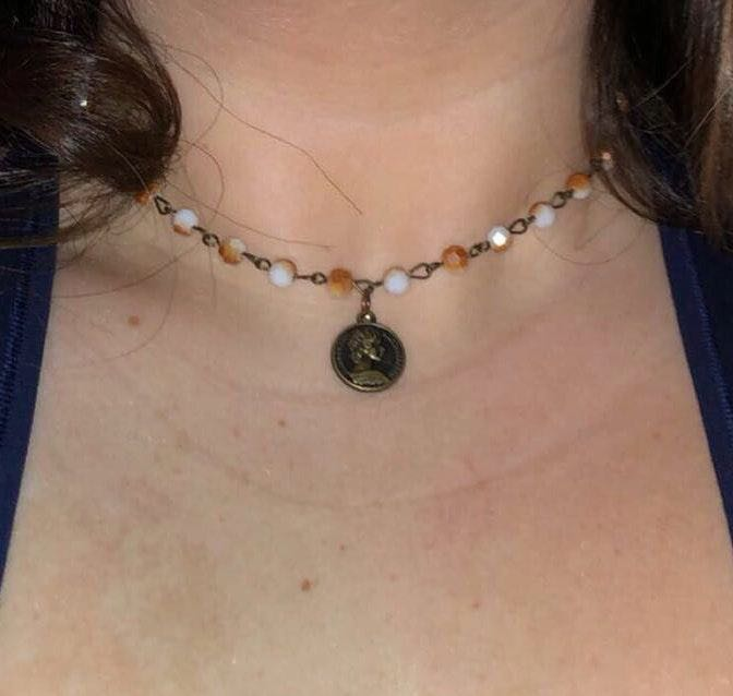 Handmade Orange Creme Necklace
