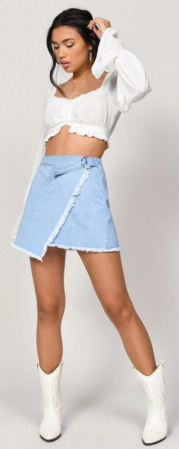 Tobi Adjustable Wrapped Mini Skirt