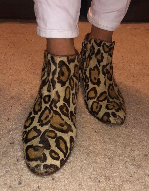 Sam Edelman Cheetah Print Booties