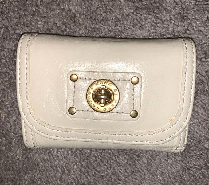 Marc by Marc Jacobs Cream Leather Wallet