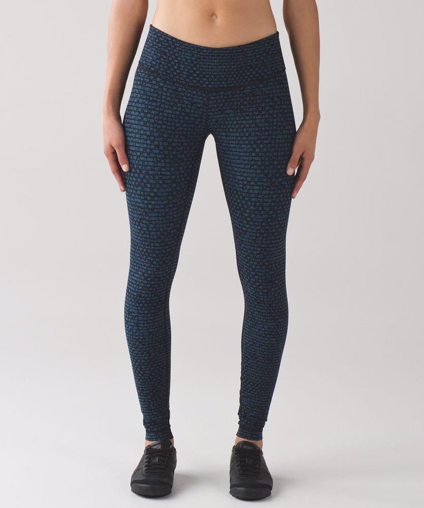 Lululemon printed wunder under III leggings