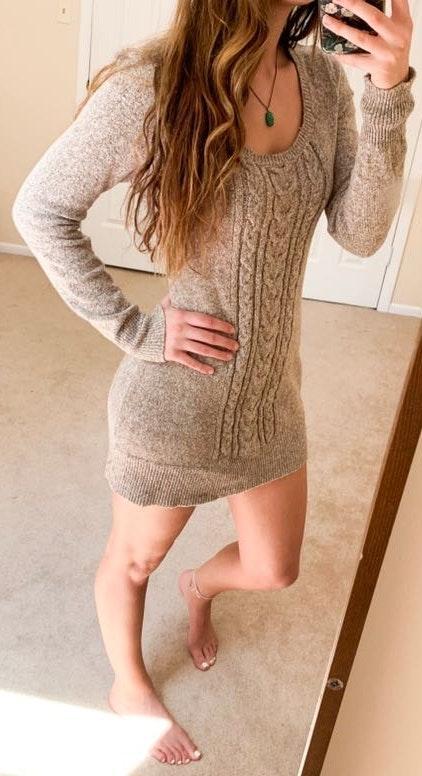 International concepts Tan Sweater Dress