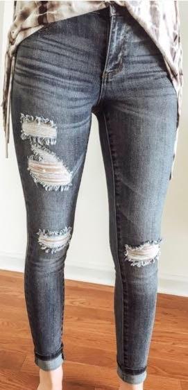 Cello Distressed Denim Skinny Jeans