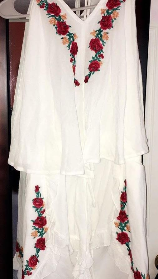 Umgee White Flower Detail Romper