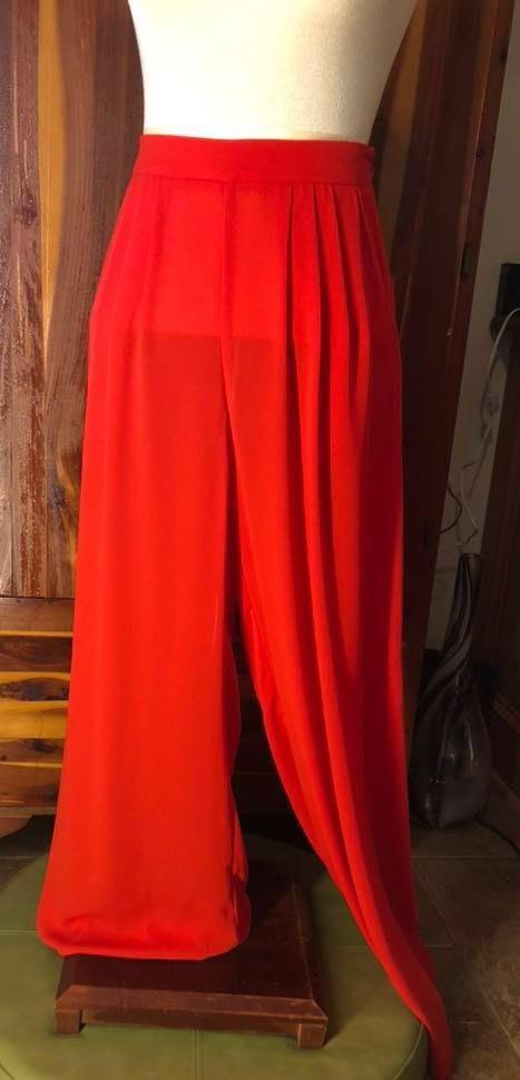 Gianni Bini Red Wide Leg High Waist Pants