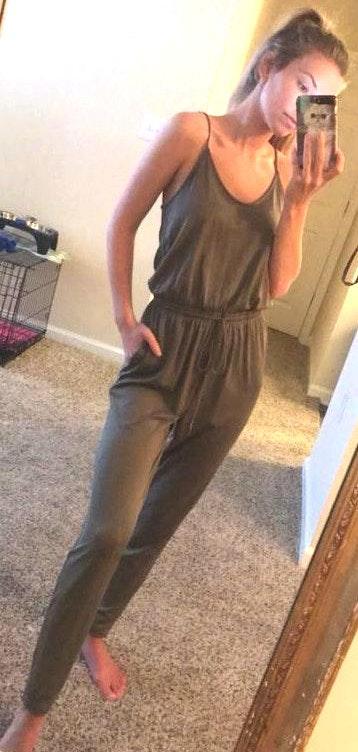 Boutique Comfy Green Jumpsuit