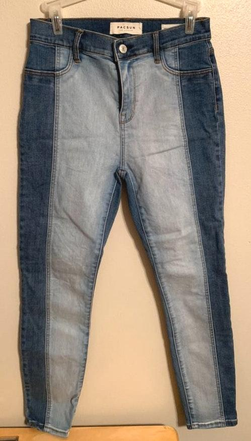 Pacsun Two Tone Skinny Jeggings