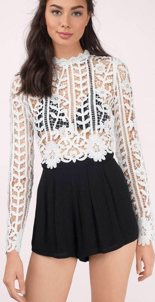 d240942aec274 We re the buy sell app for cute clothes. Say to being bored of your  clothes. Home Tobi Off White Lace Crop Top