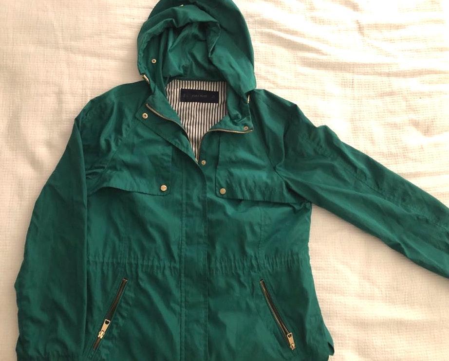 "ZARA Green ""rain"" Jacket"