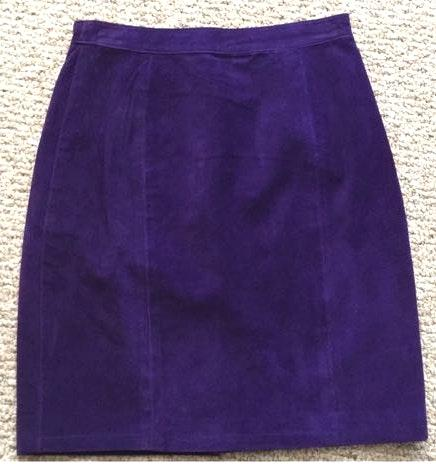 Global Identity Vintage Purple Suede Skirt