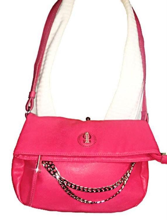 Jennifer Lopez Hot Pink Adjustable Crossbody Bag