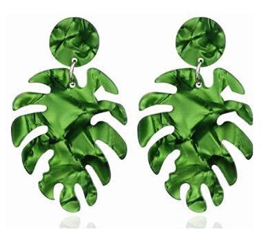 BaubleBar Leaf Earrings