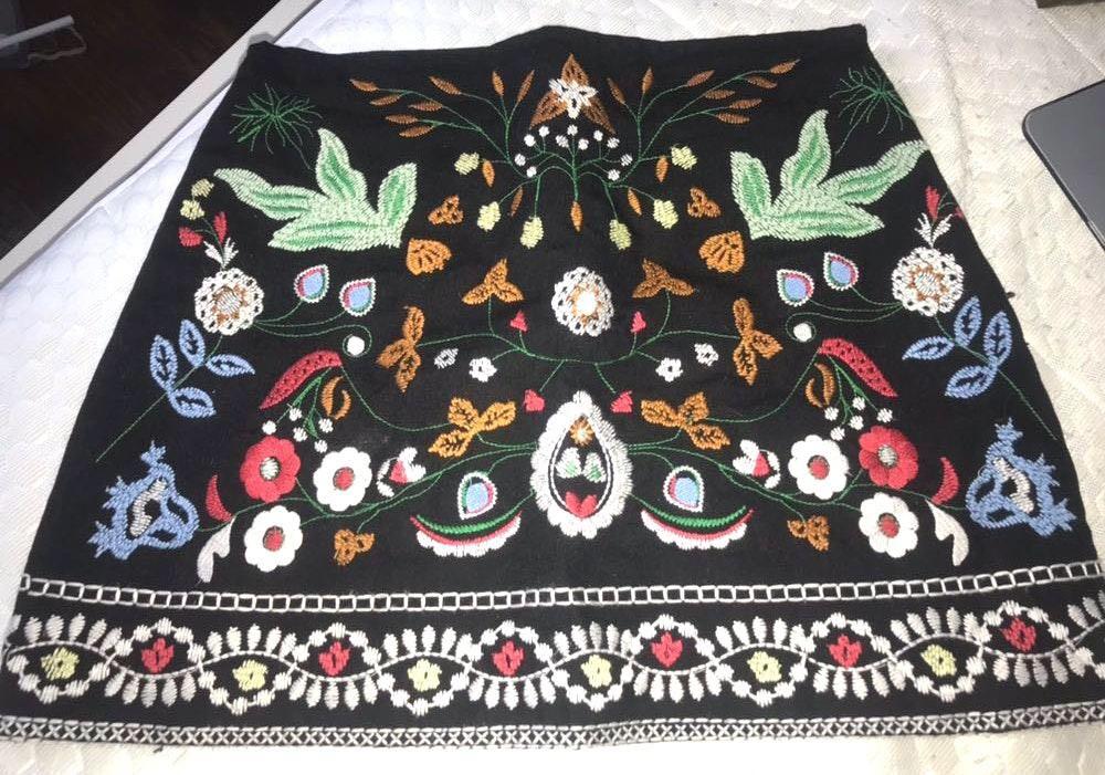 Amazon Black Embroidered Skirt