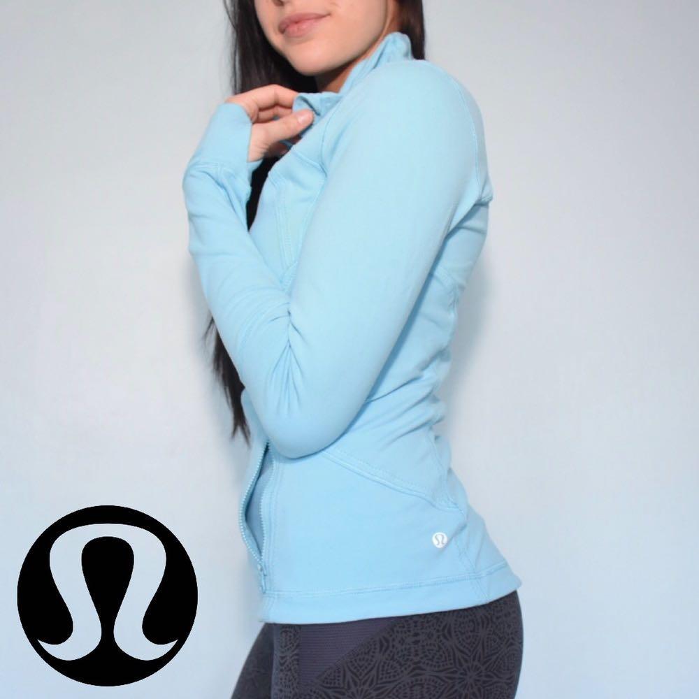 Lululemon Baby Blue Zip Up Jacket